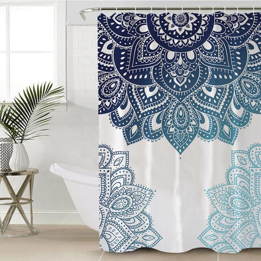 Amalia Mandala Shower Curtain-Amalia Mandala-Little Squiffy