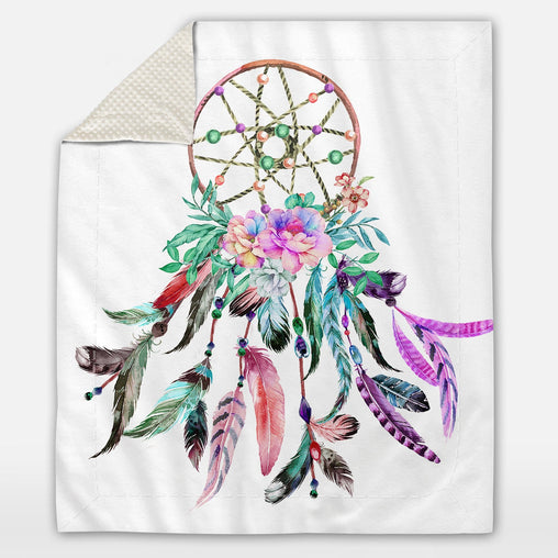 Bohemian Dreamcatcher Deluxe Minky Blanket-Bohemian Dreamcatcher-Little Squiffy