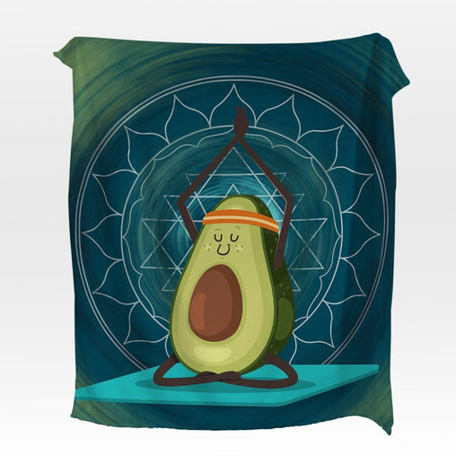 Avocado Yoga Squiffy Minky Blanket-Avocado Yoga-Little Squiffy