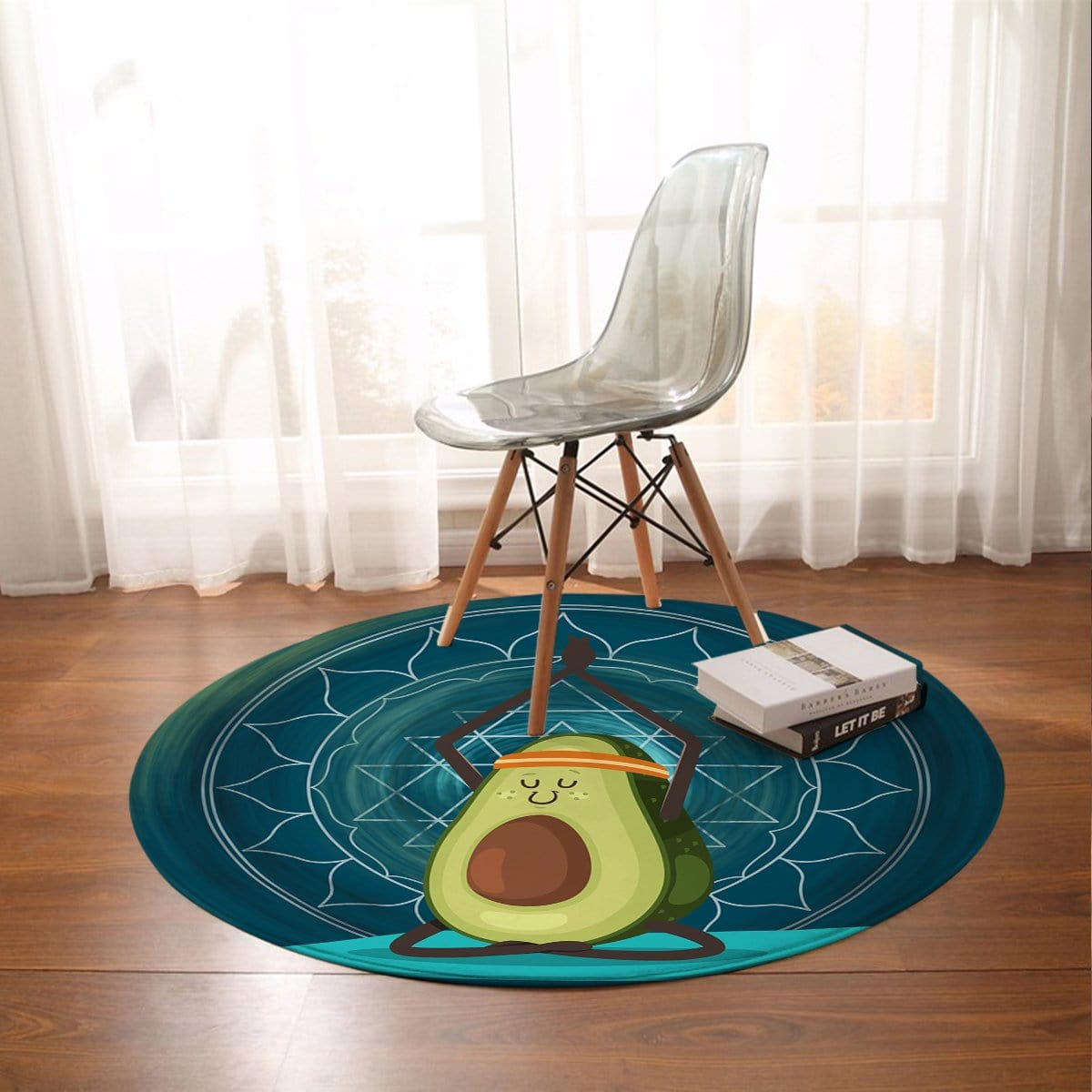 Avocado Yoga Round Mat-Avocado Yoga-Little Squiffy