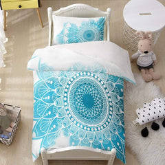 Caribbean Blue Mandala Quilt Cover Set-Caribbean Blue Mandala-Little Squiffy