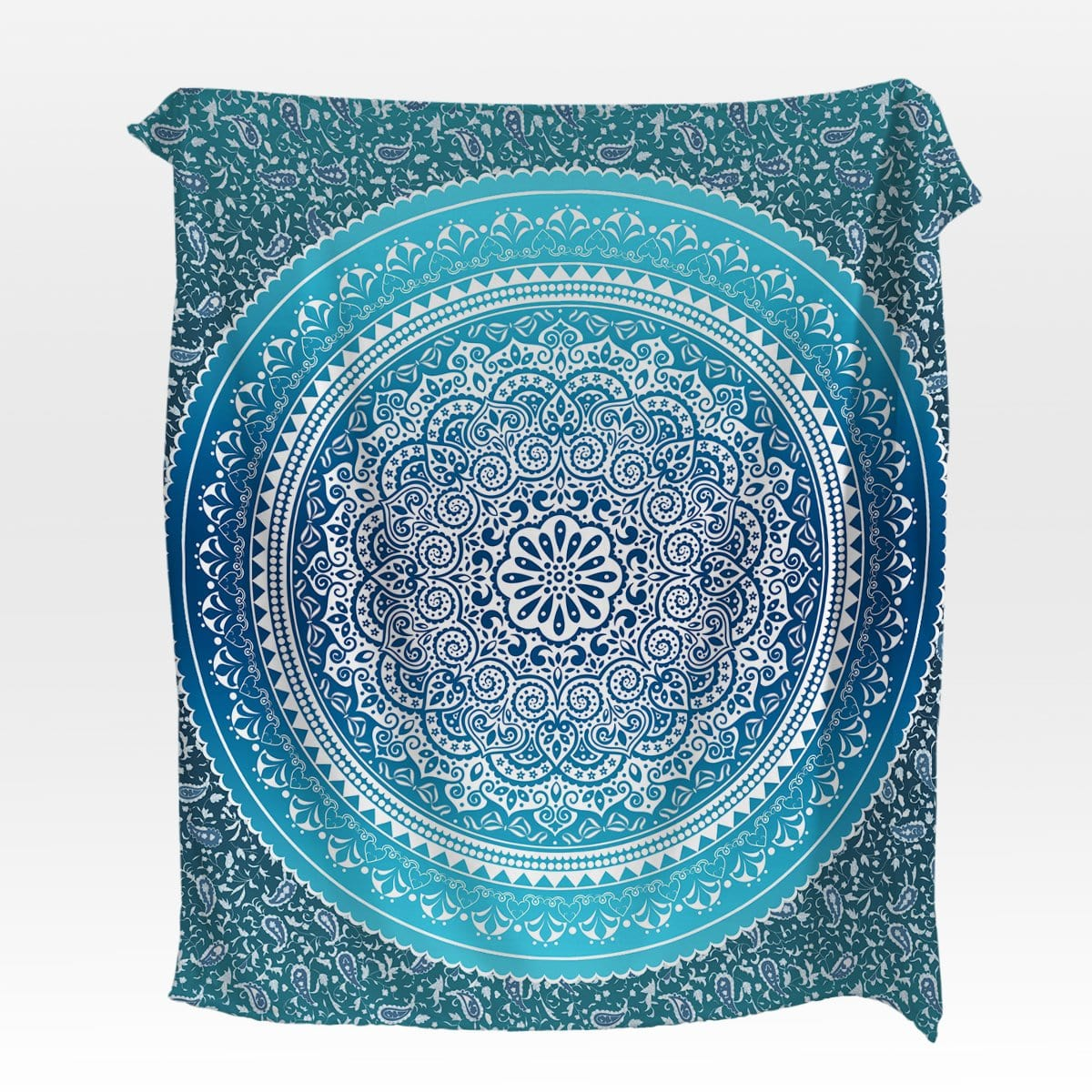 Sea Breeze Mandala Squiffy Minky Blanket-Kaleidoscope Mandala-Little Squiffy