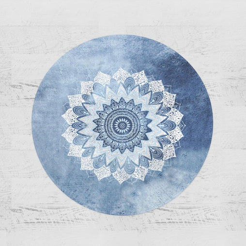 Atlantic Breeze Mandala Round Minky Blanket-Atlantic Breeze Mandala-Little Squiffy