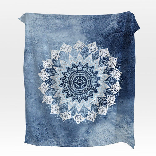Atlantic Breeze Mandala Squiffy Minky Blanket-Atlantic Breeze Mandala-Little Squiffy