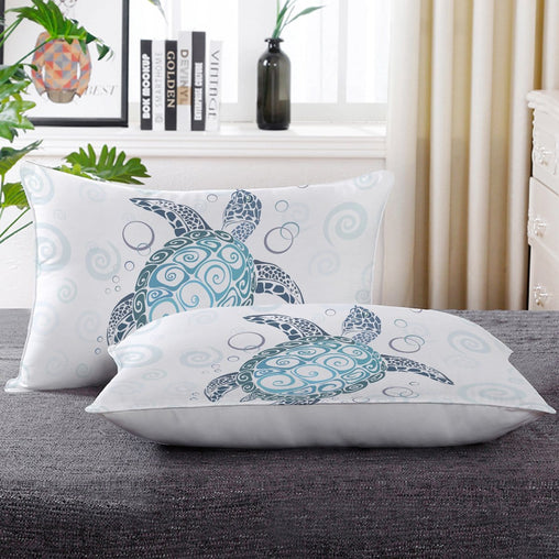 Blue Turtles Pillow Cases-Little Squiffy