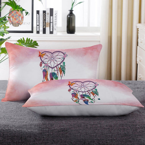 Pink Heart Dreamcatcher Pillow Cases-Little Squiffy
