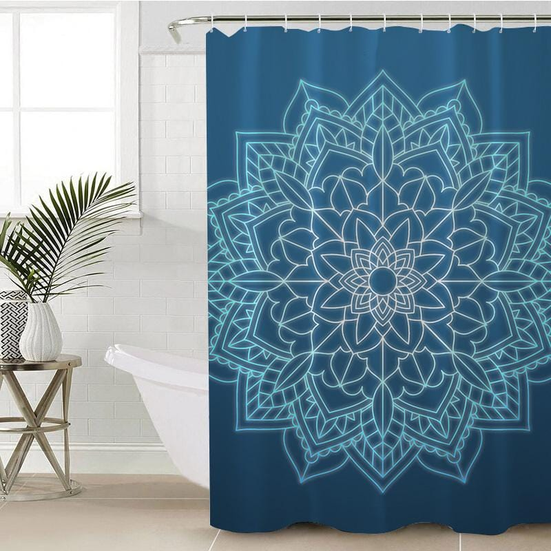 Balinese Mandala Shower Curtain-Balinese Mandala-Little Squiffy