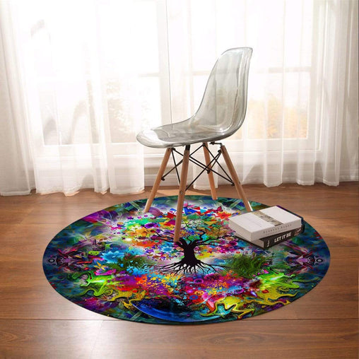 Tree Of Life Round Rug-Little Squiffy