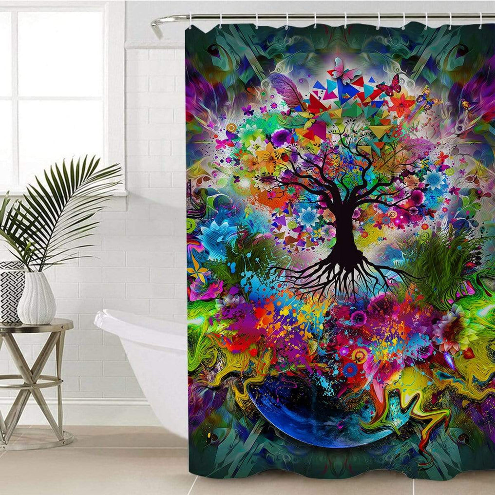 Tree Of Life Shower Curtain-Tree Of Life-Little Squiffy