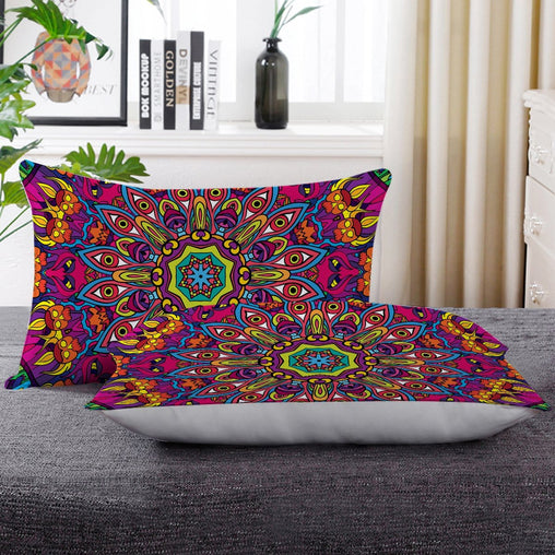Kaleidoscope Mandala Pillow Cases-Kaleidoscope Mandala-Little Squiffy