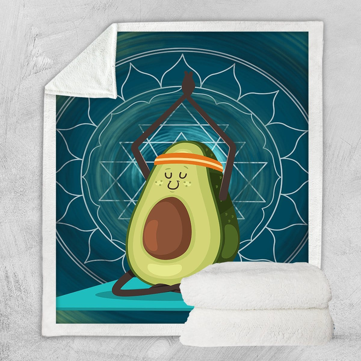 Avocado Yoga Blanket-Little Squiffy