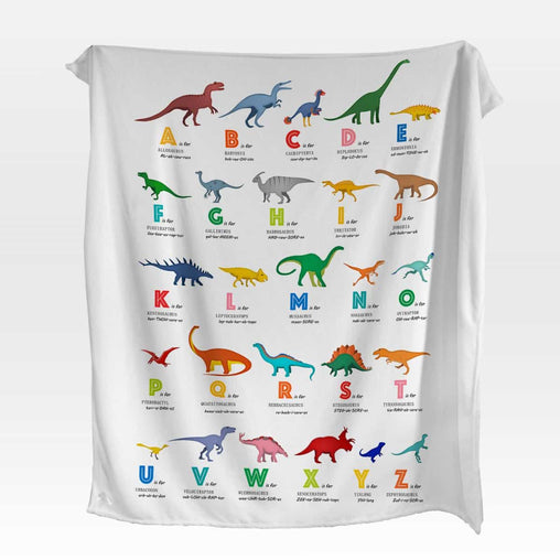 ABC Dinosaur's Squiffy Minky Blanket-ABC Dinosaur's-Little Squiffy
