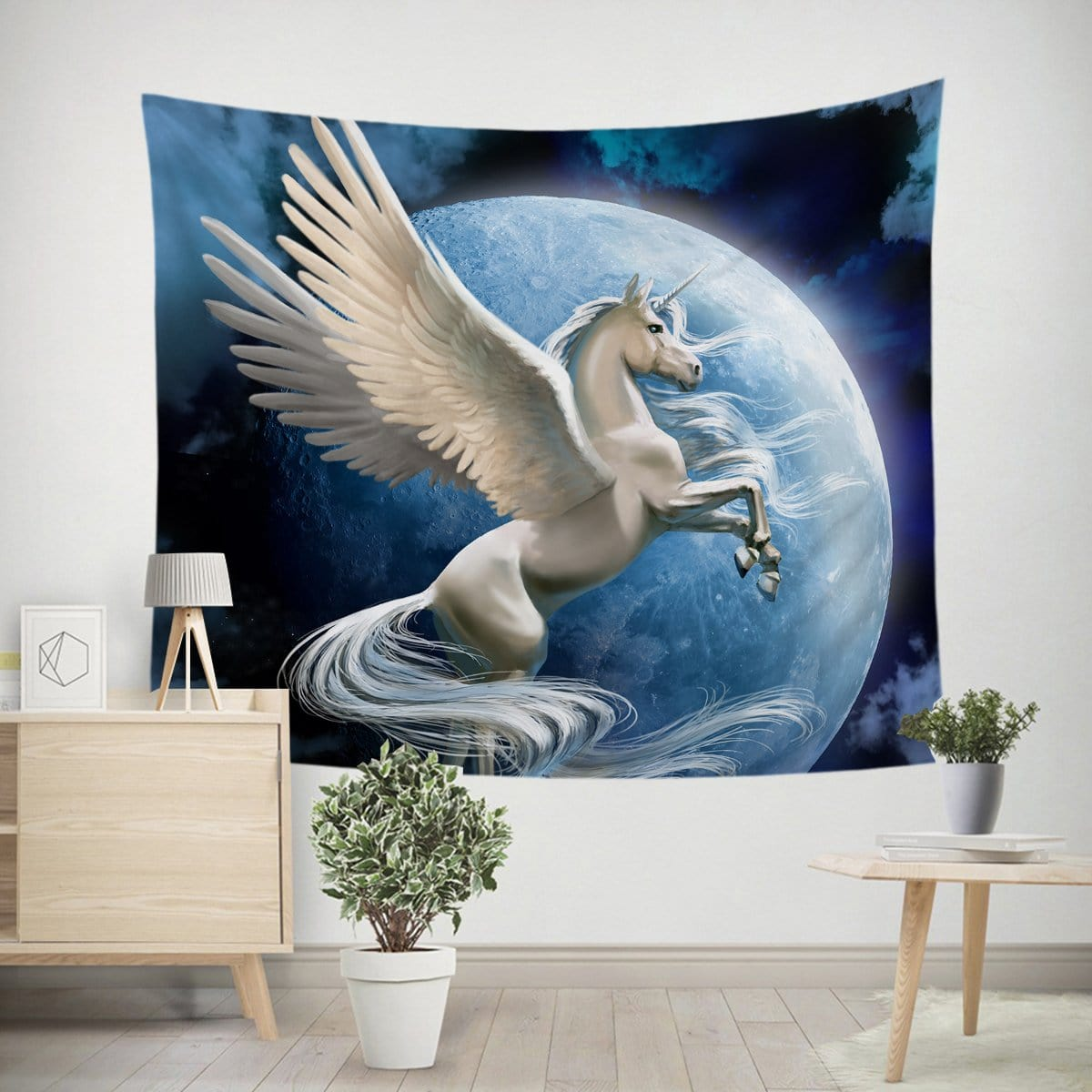 Flying Pegasus Tapestry-Little Squiffy