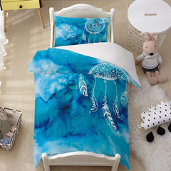 Bahaman Sea Blue Dreamcatcher Quilt Cover Set