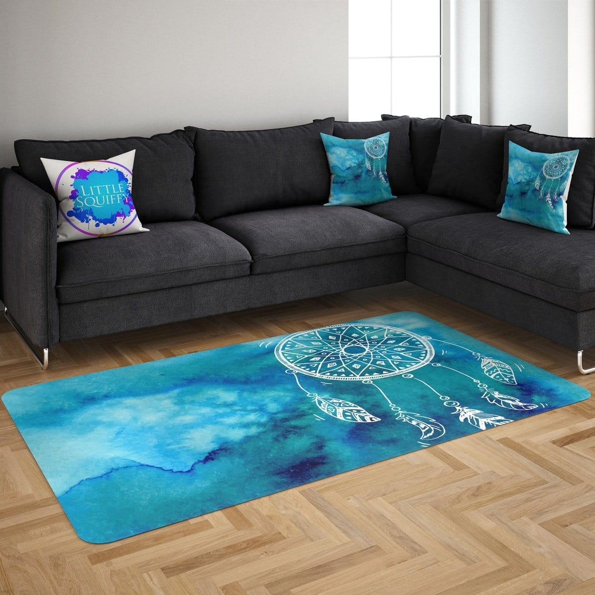 Bahaman Sea Blue Dreamcatcher Mat