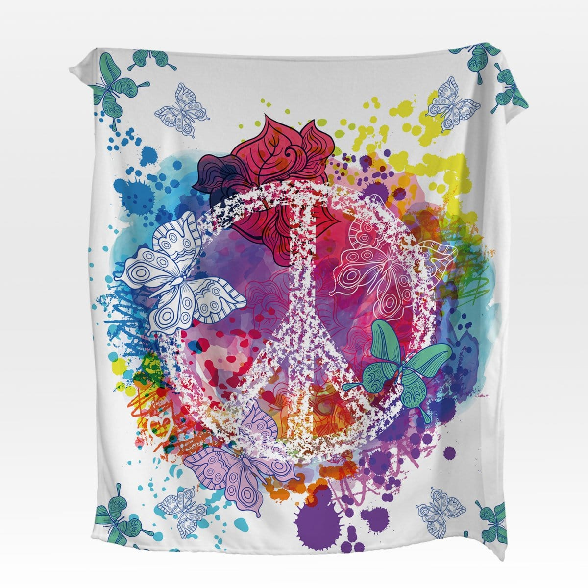 Butterfly Peace Squiffy Minky Blanket-Butterfly Peace-Little Squiffy