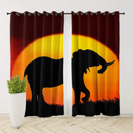 African Sunset Curtain Set
