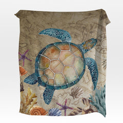 Sandy Turtle Squiffy Minky Blanket-Sandy Turtle-Little Squiffy