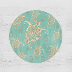 Green Sea Turtle Round Minky Blanket-Green Sea Turtle-Little Squiffy