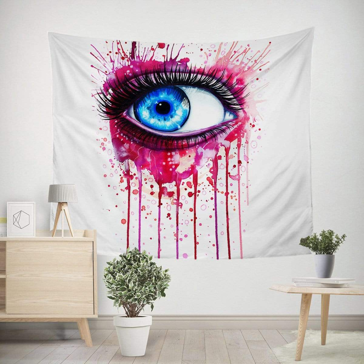 Pink Eye Tapestry-Little Squiffy