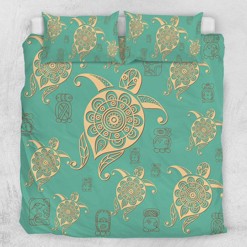 Green Sea Turtle Quilt Cover Set-Green Sea Turtle-Little Squiffy