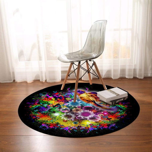 Humming Bird Round Mat-Humming Bird-Little Squiffy
