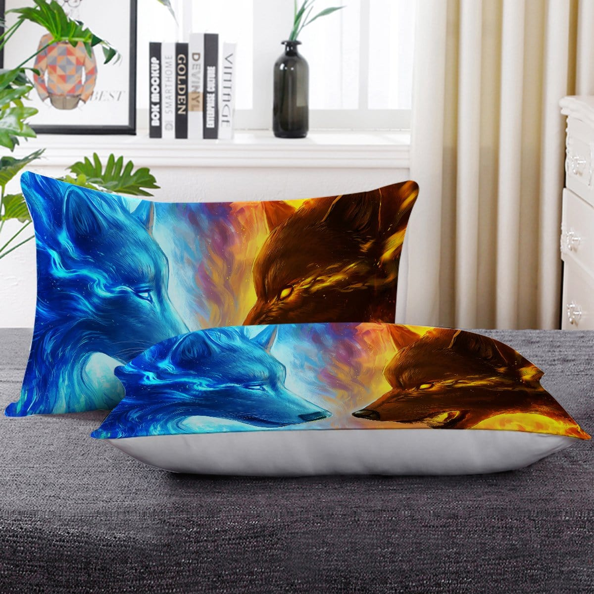 Fire And Ice Pillow Cases-Little Squiffy
