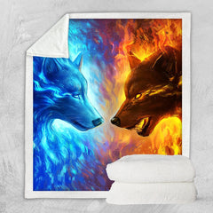Fire and Ice Blanket-Little Squiffy