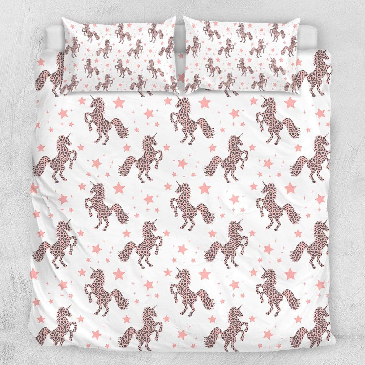 Pink Galaxy Unicorn Quilt Cover Set-Pink Galaxy Unicorn-Little Squiffy