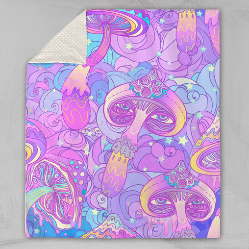 Magic Mushroom Deluxe Minky Blanket-Bubble Minky-Little Squiffy