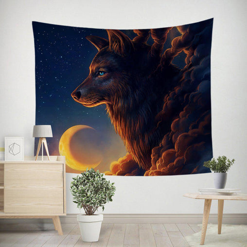 Night Guardian Tapestry-Little Squiffy