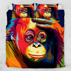 Melancholy Orangutan Quilt Cover Set**-Little Squiffy