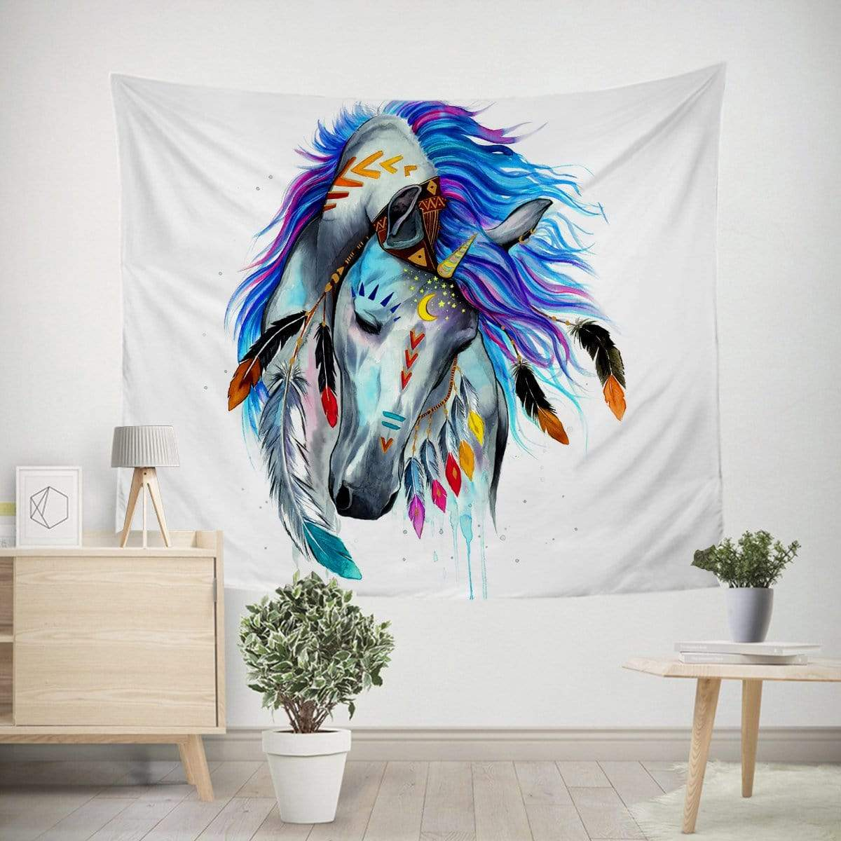 Tribal Horse Tapestry-Little Squiffy