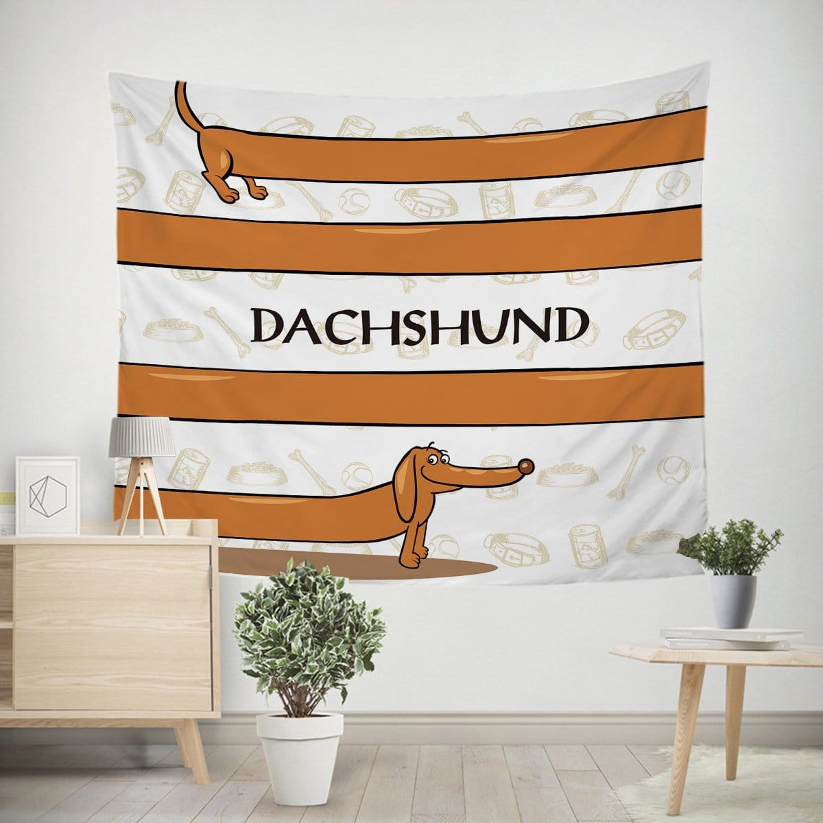 Dachshund Tapestry-Little Squiffy