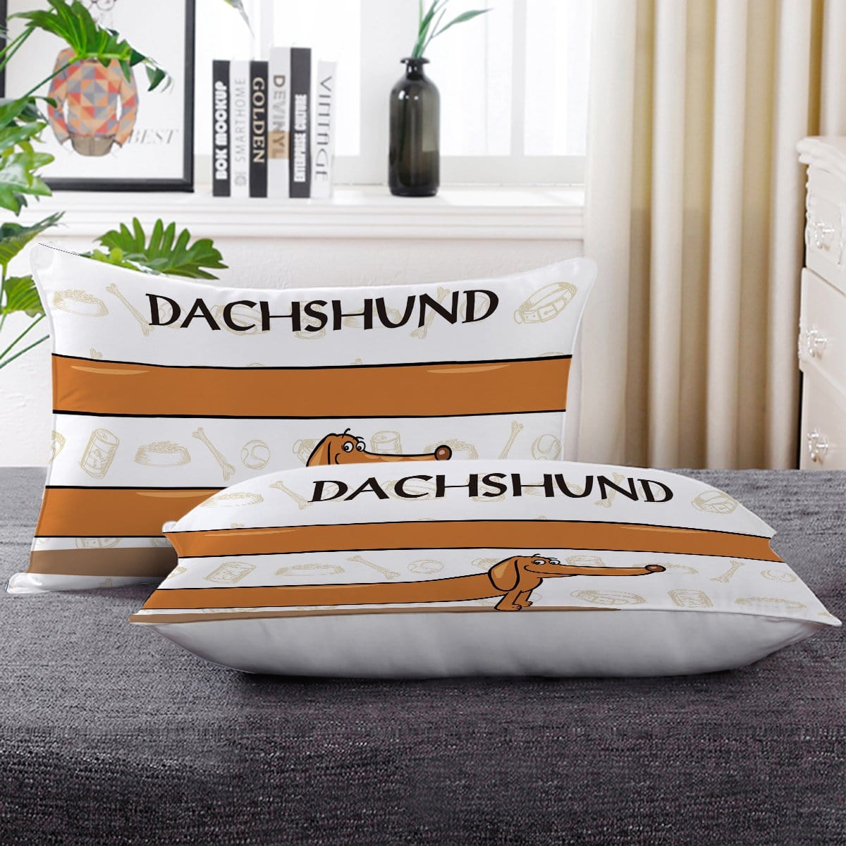 Dachshund Pillow Cases-Little Squiffy