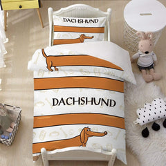 Dachshund Quilt Cover Set-Little Squiffy