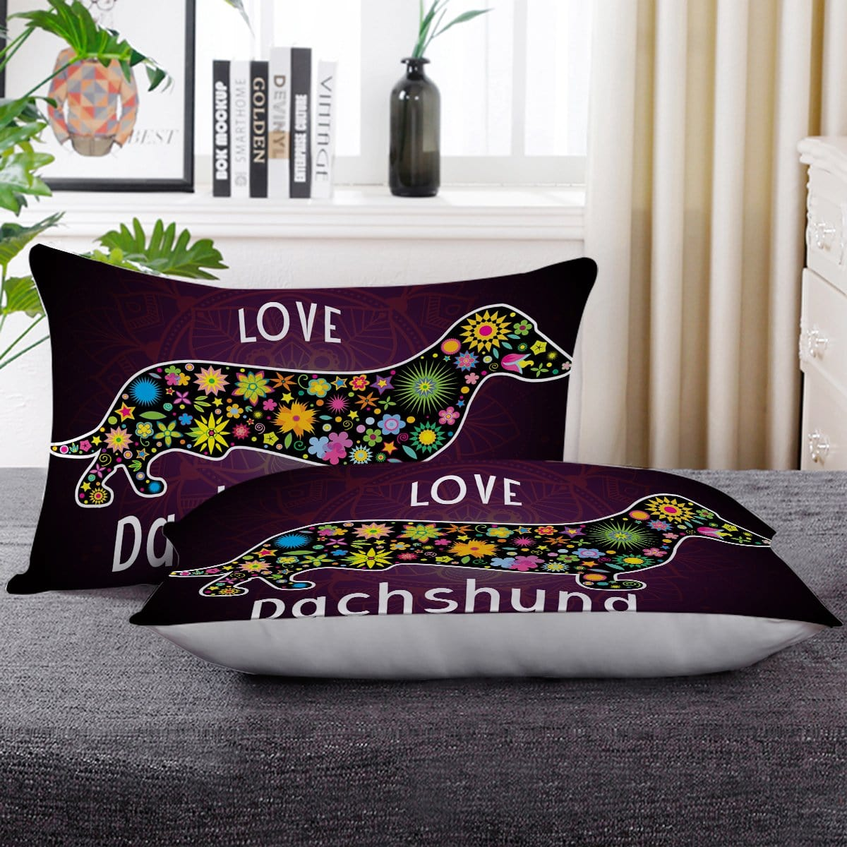 Dachshund Love Pillow Cases-Little Squiffy