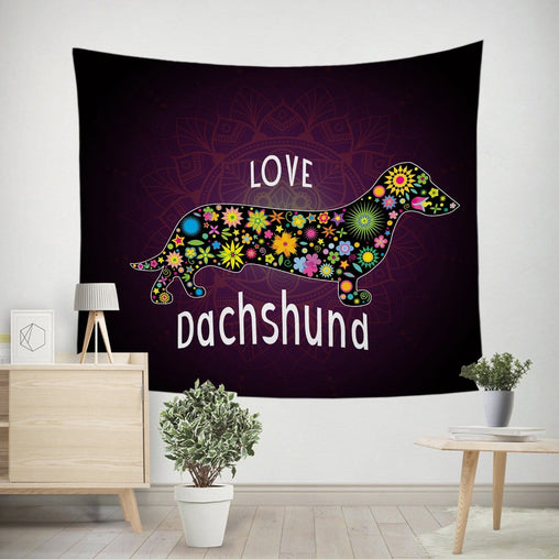 Dachshund Love Tapestry-Little Squiffy