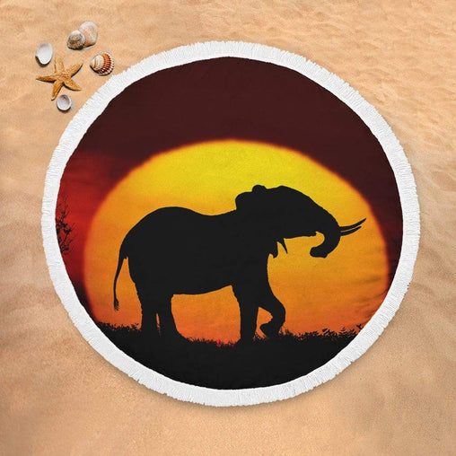 African Sunset Lightweight Beach Towel-African Sunset-Little Squiffy