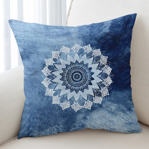Atlantic Breeze Mandala Cushion Cover-Atlantic Breeze Mandala-Little Squiffy