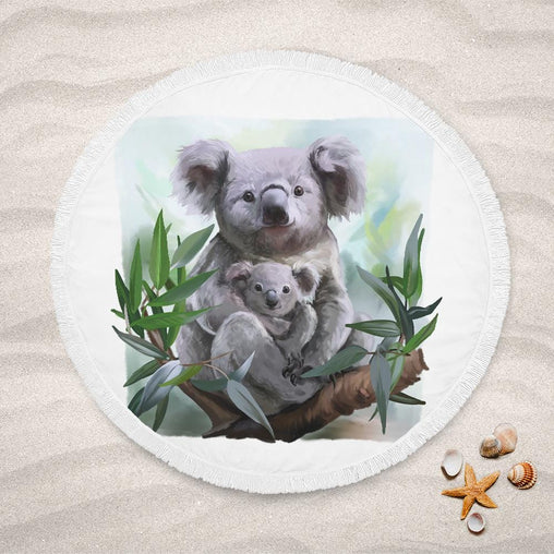 Aussie Koala Lightweight Beach Towel-Aussie Koala-Little Squiffy