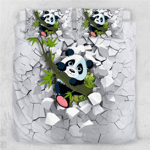 Baby Panda Quilt Cover Set-Little Squiffy
