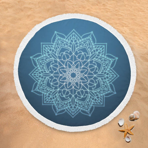 Balinese Mandala Lightweight Beach Towel-Balinese Mandala-Little Squiffy