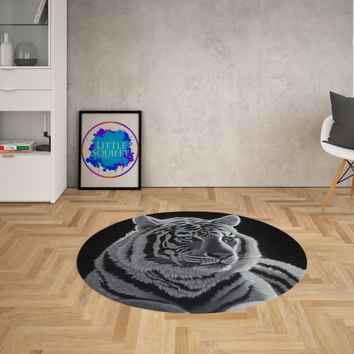 Blue Eyes Round Mat-Schim Schimmel-Little Squiffy