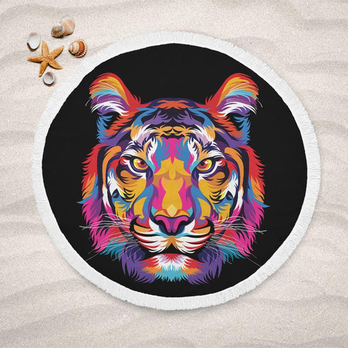 Bright Tiger Lightweight Beach Towel-Bright Tiger-Little Squiffy