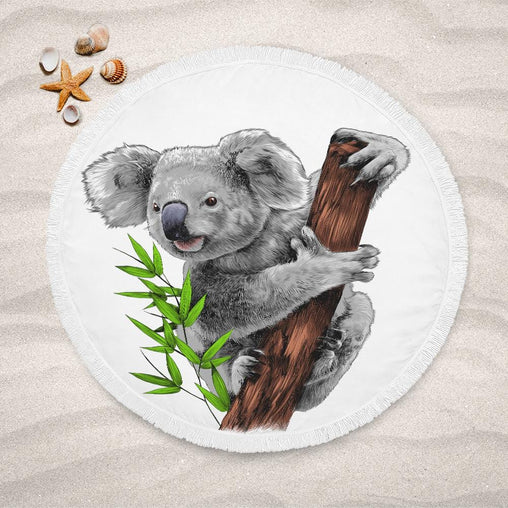 Bush Koala Lightweight Beach Towel-Bush Koala-Little Squiffy