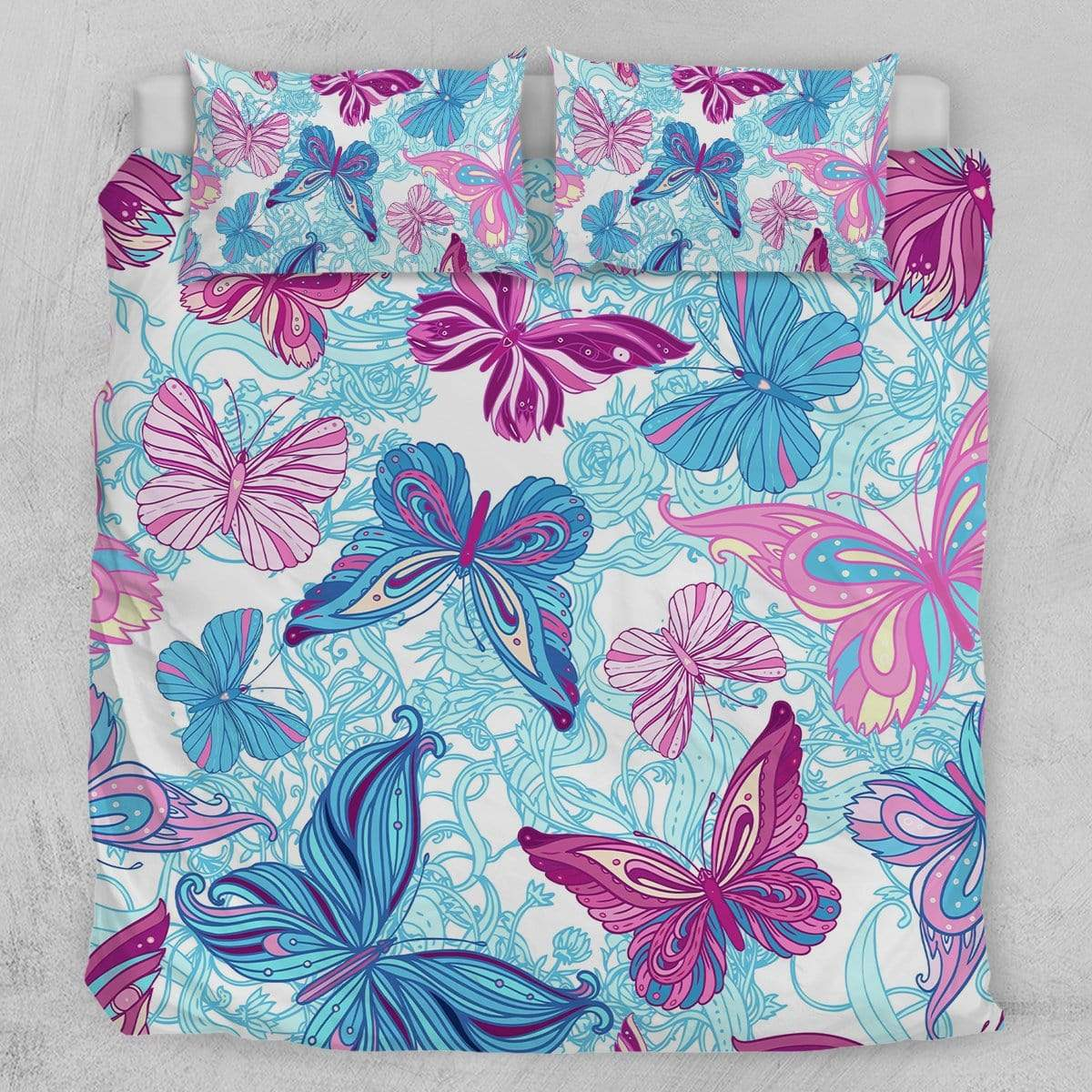 Pastel Butterflies Quilt Cover Set-Pastel Butterflies-Little Squiffy