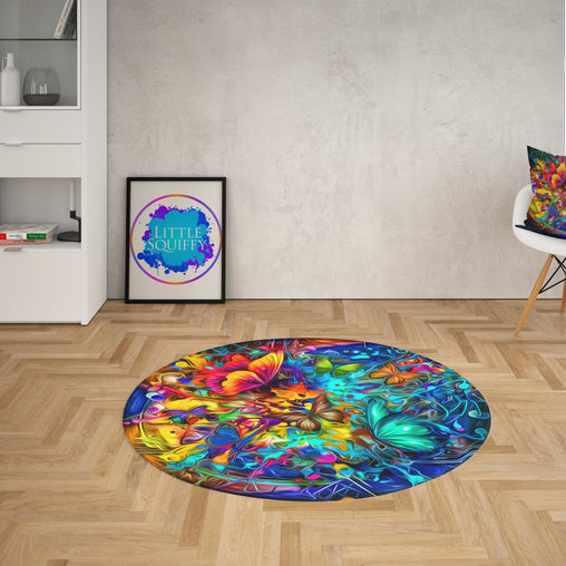Butterfly Burst Round Mat-Butterfly Burst-Little Squiffy