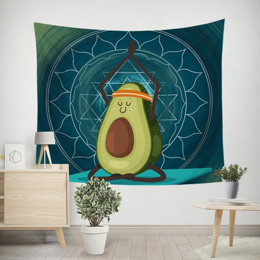 Avocado Yoga Tapestry-Little Squiffy