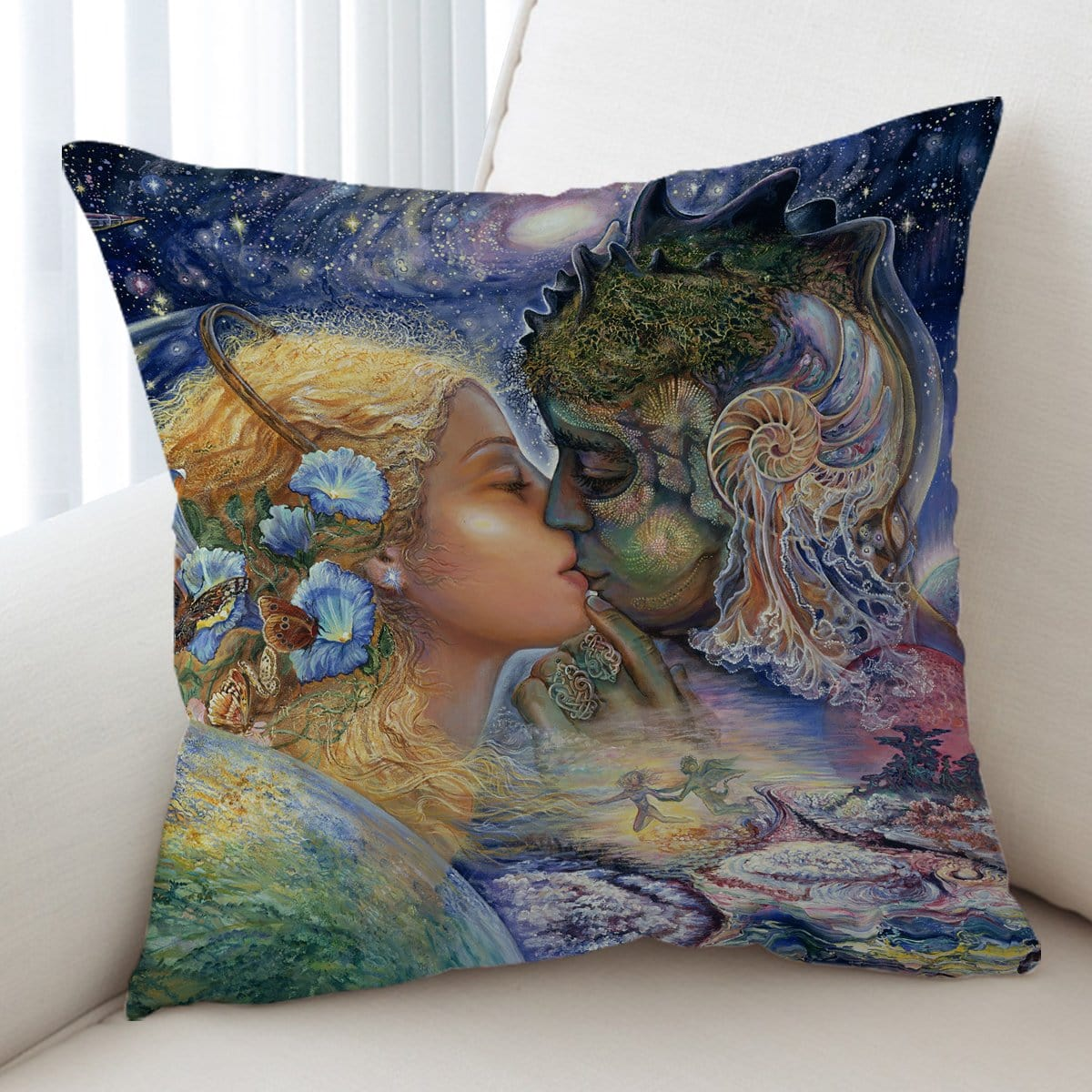 Cosmic Kiss Cushion Cover-Josephine Wall-Little Squiffy